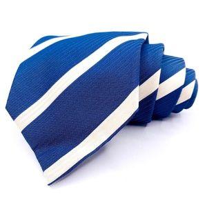 Charles Tyrwhitt Tie Silk Blue Striped Pattern